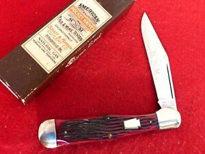 Schatt & Morgan USA crimson bone mint in box Coke Bottle knife 041983 ld