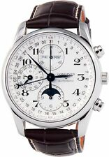 Longines L2.673.4.78.3 Chronograph Stainless Steel Men Watch - Brown
