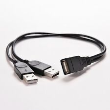USB 2.0 A Female to 2 Dual USB Male Hub Power Adapter Y Splitter Cable Cord HP