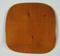 Longaberger Small SQUARE Basket Wood Crafts Lid ~ 7 3/8 x 7 3/8 (E7)
