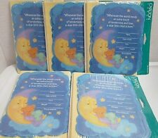 Lot of 5 sets Carlton Cards New Baby Birth Announcements 40 cards Bear Moon Star