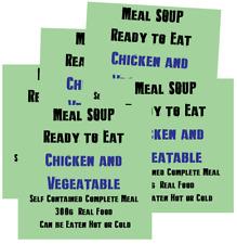 300 G Poulet et Légumes Soupe MRE humide repas Conditionnement multiple de 5 Camping Ration Pack