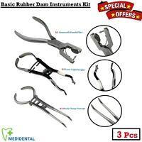 Chirurgical Basique Caoutchouc Digue Forceps Kit Endodontique Instruments Ce