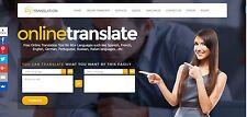 The Best Translation service website for sale Home Business Make Money Online