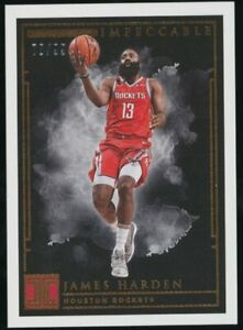 2018-19 Panini Impeccable #12 James Harden Houston Rockets 78/99