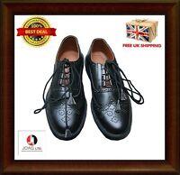Ghillie Brogues Black PU Leather Gillie Brogues Scottish Kilt Shoes kilt shoes