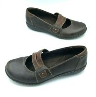 Clarks Womens Size 8 M Leather Slip On Closed Toe Shoes Casual Comfort Brown
