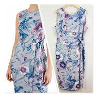 [ CLOSET London ] Womens V Back Print Pencil Dress NEW + TAGS  | Size UK 16