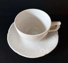 3 Teile Rosenthal Kaffeegedeck Sanssouci weiß Goldrose Teller Untertasse Tasse