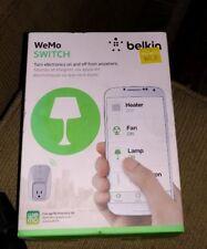 Belkin WeMo SWITCH WiFi Smart Outlet Switch Home Automation HomeKit