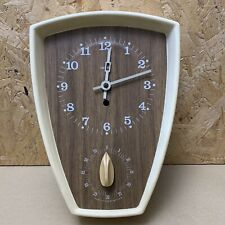 Vintage Smiths Retro Wall Clock with Timer- Working- 24 x 17cm