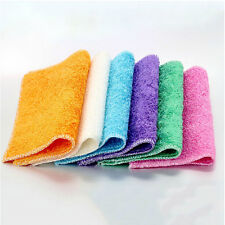 10X Kitchen Washing Cloths Dishcloths Rags Towel Bamboo Fiber Home Cleaning LJ
