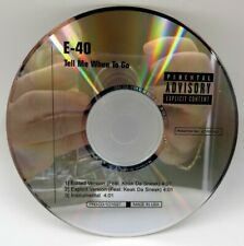 E-40 ♫ Tell Me When To Go ♫ 3 Track DJ PROMO CD ♫ RARE