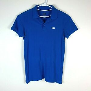 Helly Hansen Blue Polo Shirt Size Men's Medium