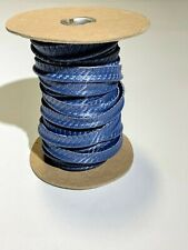 Indy Blue Carbon Fiber Vinyl Welt Cord Piping Outdoor Automotive Upholstery