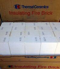 """K-23 Insulating Firebrick 9 x 4.5 x 1"""" IFB Fire Brick Thermal Ceramic Bricks K23"""