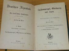 Buch Deutsches Alpenbuch Noé Salzkammergut Oberbayern Allgäu Flemming ~1875