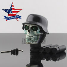 Universal Car Truck Manual Stick Gear Shift Knob Lever Shifter Skull Head Hat US