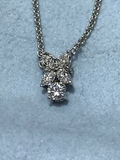 """Very Nice 14kt White Gold Necklace With 1.00ct 17"""""""
