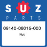 09140-08016-000 Suzuki Nut 0914008016000, New Genuine OEM Part