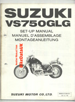 Suzuki VS750GL-G Intruder (1986 >) Genuine PDI Set-Up Manual VS 750 GL VR51 BX79
