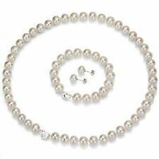 6-7mm White Freshwater Pearl Sterling Silver Necklace Heart Shape Bracelet Gift