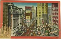 Greetings From Times Square New York City New York Pepsi Cola Vintage Postcard