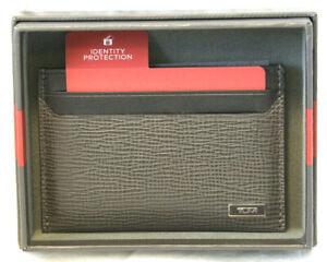 Tumi Monaco SLG Taupe Gusseted Slim Card Case #0119860TP - NWT