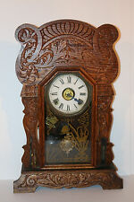 Antique Sessions gingerbread clock Superb Cond. w/ thermometer/barometer/ala rm