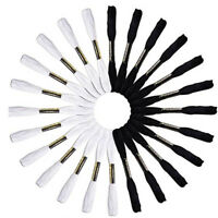 24 Pcs Embroidery Thread Craft Cross Stitch Floss Black and White Color
