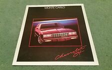 1984 CHEVROLET MONTE CARLO 3.8 5.0 SPORT COUPE CL SS USA BROCHURE