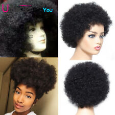Short Brazilian Afro Kinky Curly Wig Natural Color 100 Human Hair Wigs for Women