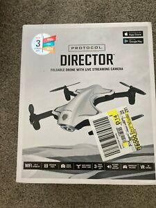NEW Protocol 6182-7RCHA WAL Director Foldable Drone w/ Live Streaming HD Camera