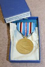 Scarce Original WW2 USMC American Theatre Campaign Boxed Medal w/Ribbon, VG