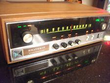 New ListingVtg Heath kit Fm Stereo Solid State Tuner Model Aj-15 In Original Wood Cabinet