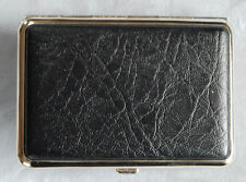 Hansaware Black Pebbled Leatherette L Pocket Pill Case Made in Germany 849/N 309