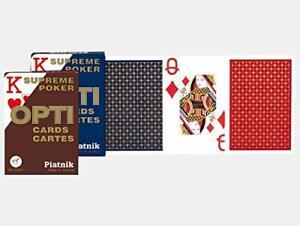 Piatnik Opti Poker Playing Cards Various Colours