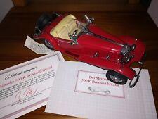 MERCEDES BENZ 500K Roadster Spezial, 1935, Modellauto 1:24, FRANKLIN MINT, rot
