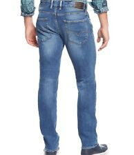 Guess Men's Lincoln Slim Straight Jeans In Folsom Blues Wash Size 32