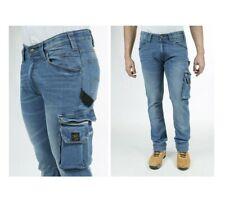 Jeans da lavoro elasticizzati comfort fit Stone Washed Blu Rica Lewis JOB