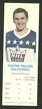 Wayne Muloin California Golden Seals 1970-71 Dad's Cookies Hockey Card EX