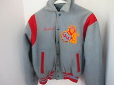 Vintage FORDHAM Blue & Red WOOL LETTERMAN JACKET w/ Lion Crest