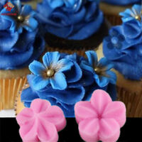 Silicone Baking Fondant Mold Decor Tools Cake Mould Liquid Plum Petals Flower