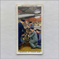 Wills Life In The Royal Navy 23 Adjustment Of Torpedo Gear Cigarette Card (CC4)