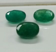 Natural loose gemstones  African Emeralds.  set ,10x8mm 6.90cttw .oval shape