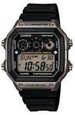 Casio AE1300WH-8A Men's Resin Band World Time Alarm Chrono Referee Timer Watch