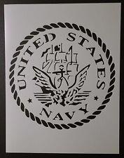 "US U.S. United States Navy Round 8.5"" x 11"" Custom Stencil FAST FREE SHIPPING"