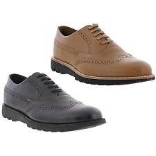 Kickers KYMBO BROGUE Mens  Leather Oxford Lace Up Smart Shoes Tan Brown or Black