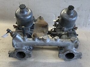 MGB TWIN SU HIF4 CARBS /CARBURETTORS ON MANIFOLD WITH LINKAGES, FZX1229