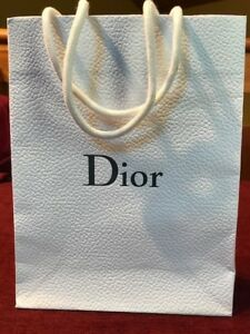 "DIOR Empty Shopping Gift Bag in White.  10""W x 15""H x 5""D"